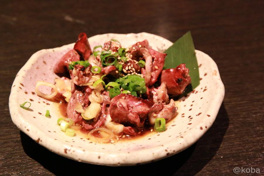 06鎌ヶ谷 シロマル 鶏肝にんにく醤油和え