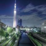 HDR 東京スカイツリー 歩道橋より