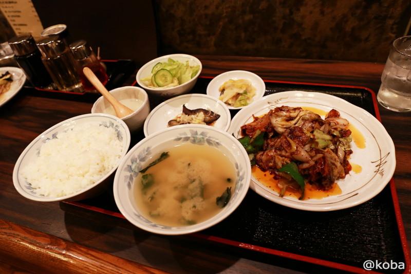 07 新小岩 ランチ 大三元 肉・キャベツみそ炒め定食