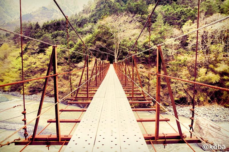 07 山梨県南巨摩郡早川町 つり橋