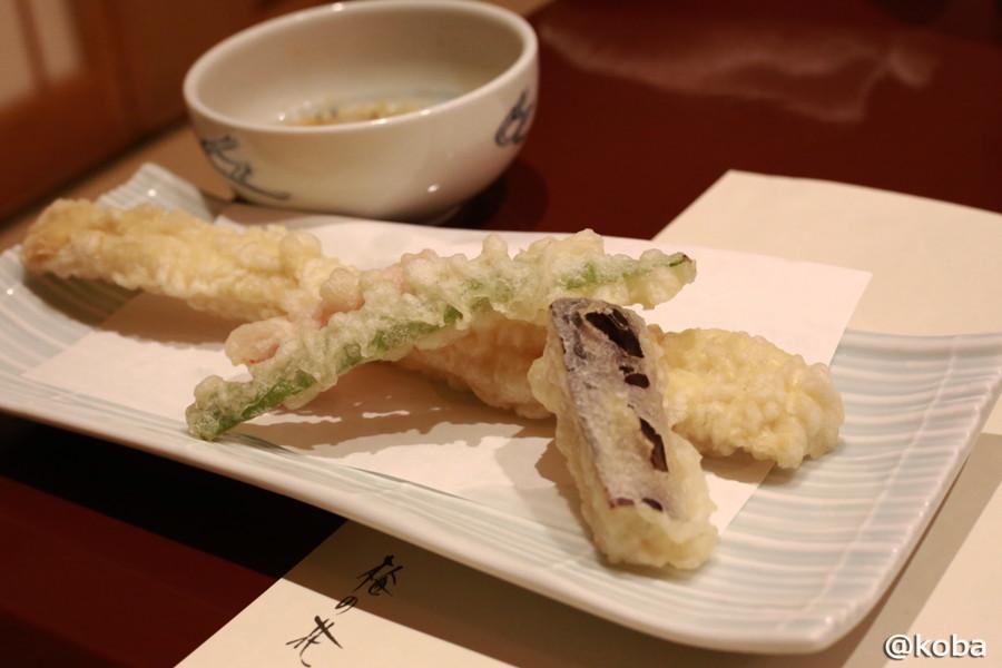 05 湯葉の一本揚げと夏野菜の天ぷら