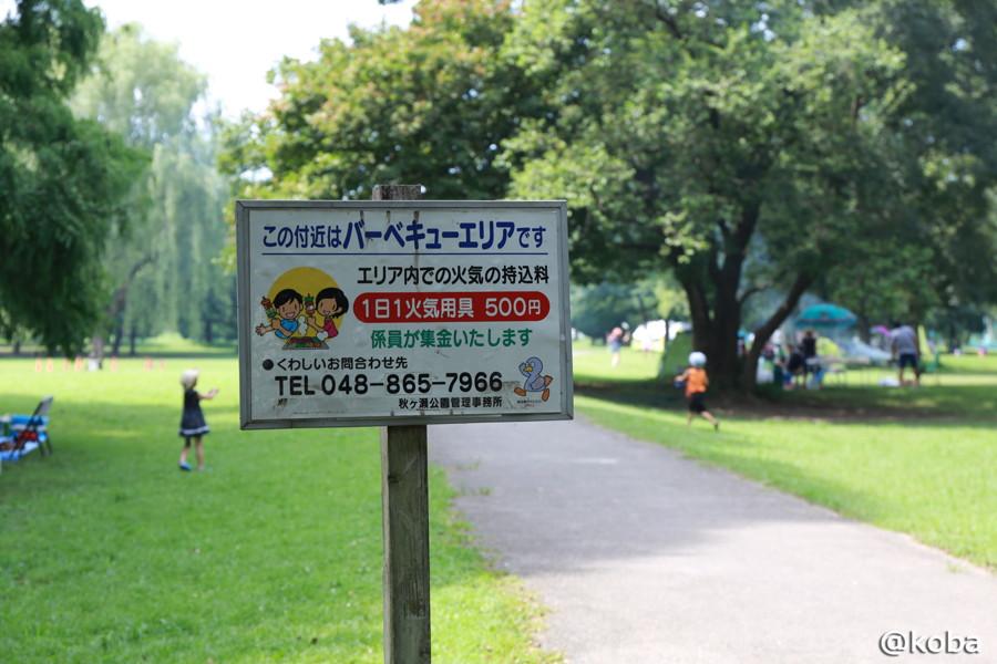 09 秋ヶ瀬公園 BBQエリア 料金システム