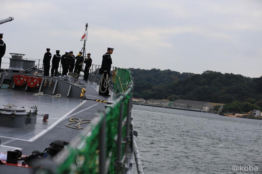 19 観艦式2015 「艦名 とね」出港準備