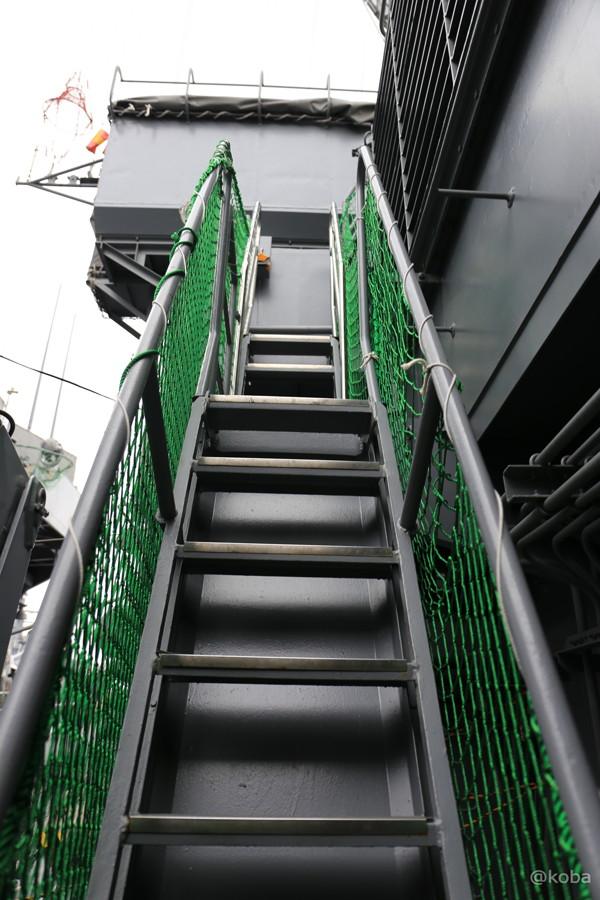 37 観艦式2015 「艦名 とね」階段 上り専用