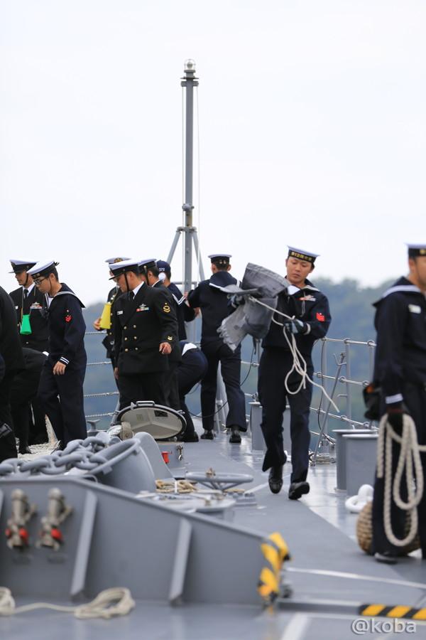23 観艦式2015 「艦名 とね」出港準備