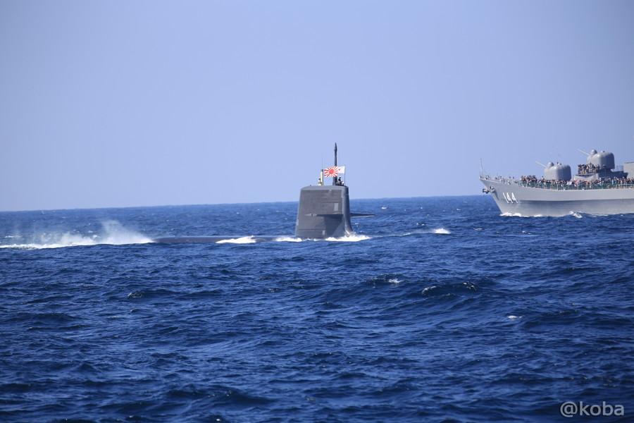 23 観艦式 〈第4群 505ずいりゅう 506こくりゅう 592うずしお〉 潜水艦
