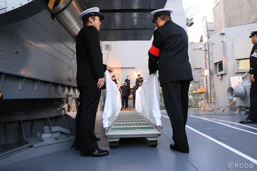 19 観艦式 下船の準備