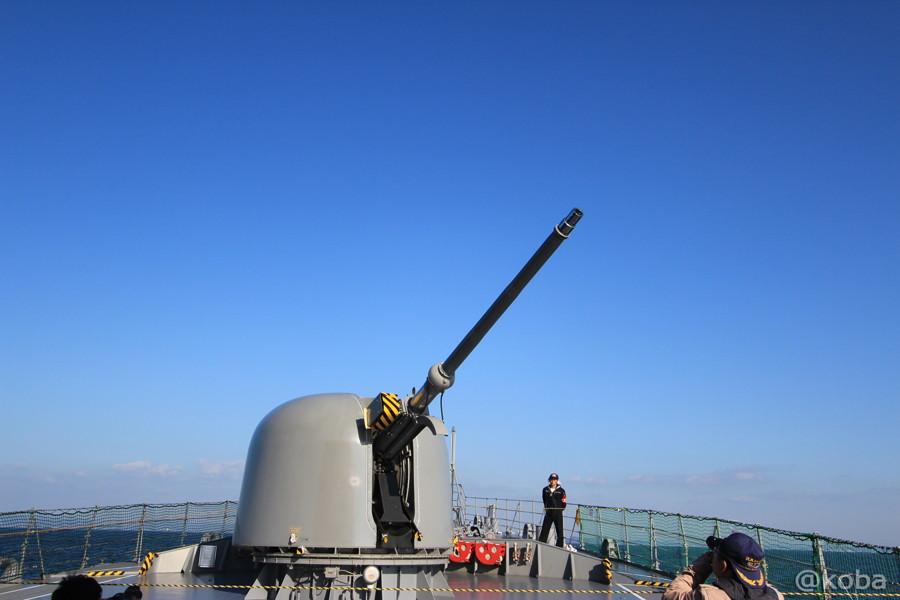06 観艦式 76mm砲台の実演 くるりくるり。