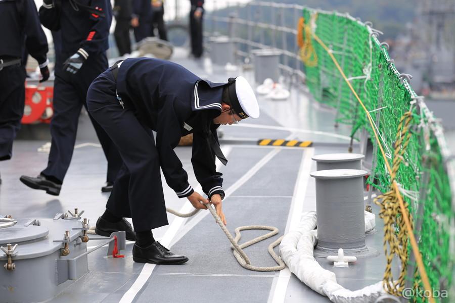 17 観艦式2015 「艦名 とね」出港準備