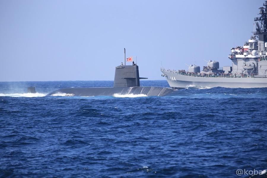 26 観艦式 〈第4群 505ずいりゅう 506こくりゅう 592うずしお〉 潜水艦