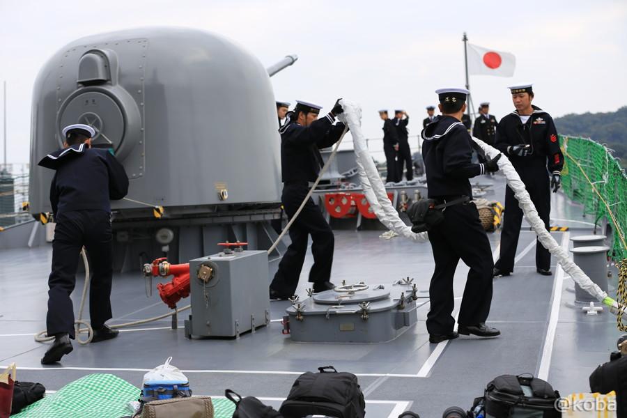 16 観艦式2015 「艦名 とね」出港準備