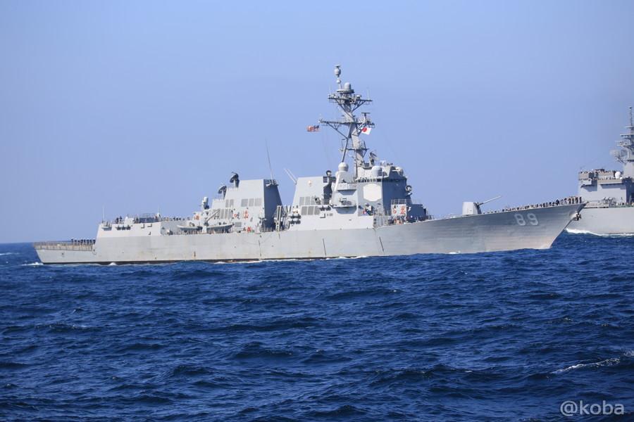 80 観艦式 〈招待国海軍〉 アメリカ 89 MUSTIN