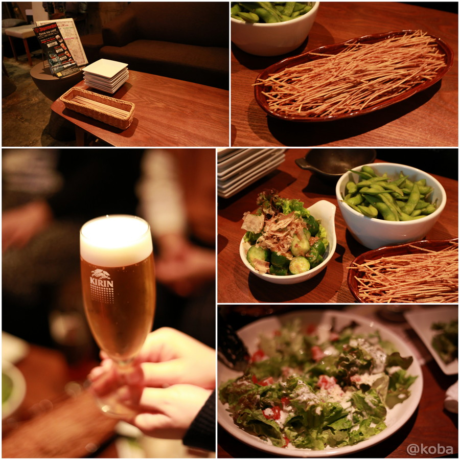 05枝豆・前菜・フリットパスタ・サラダ