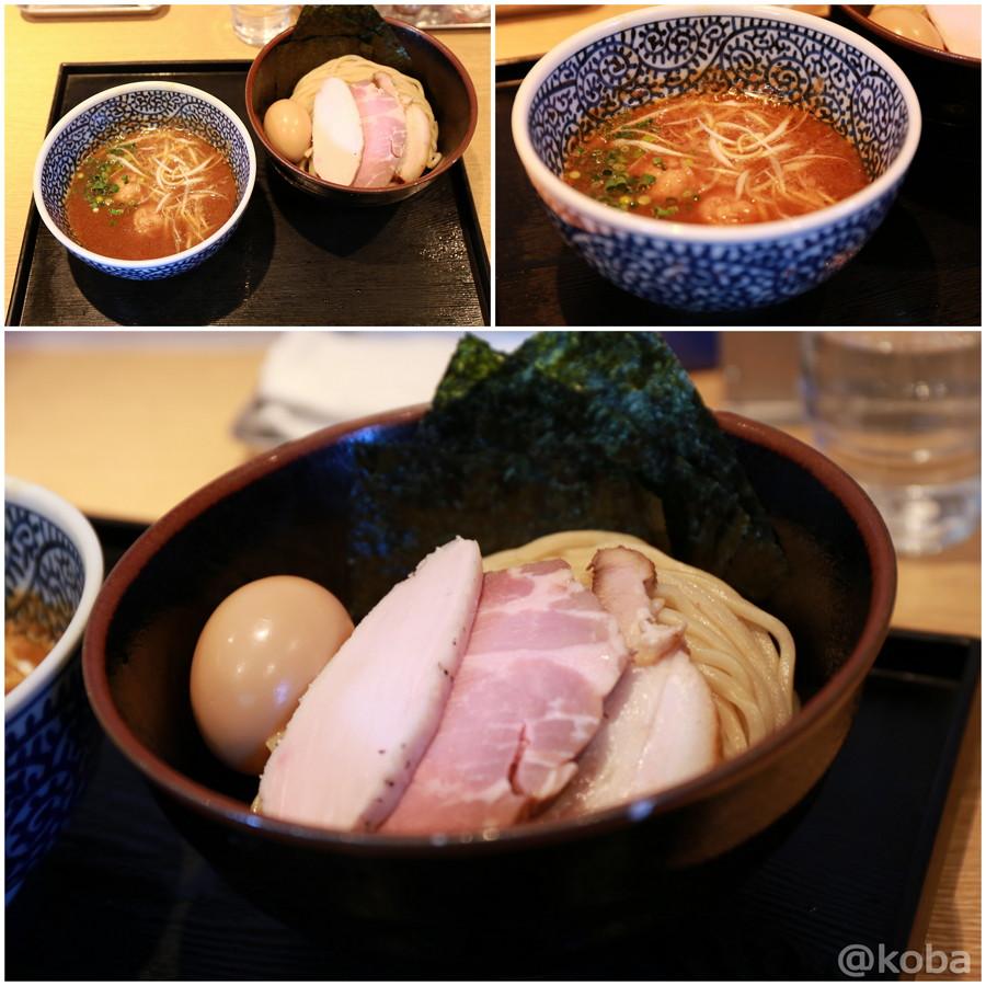 07特製濃厚魚介つけ麺 一燈 三種類のチャーシュー(豚・鶏)