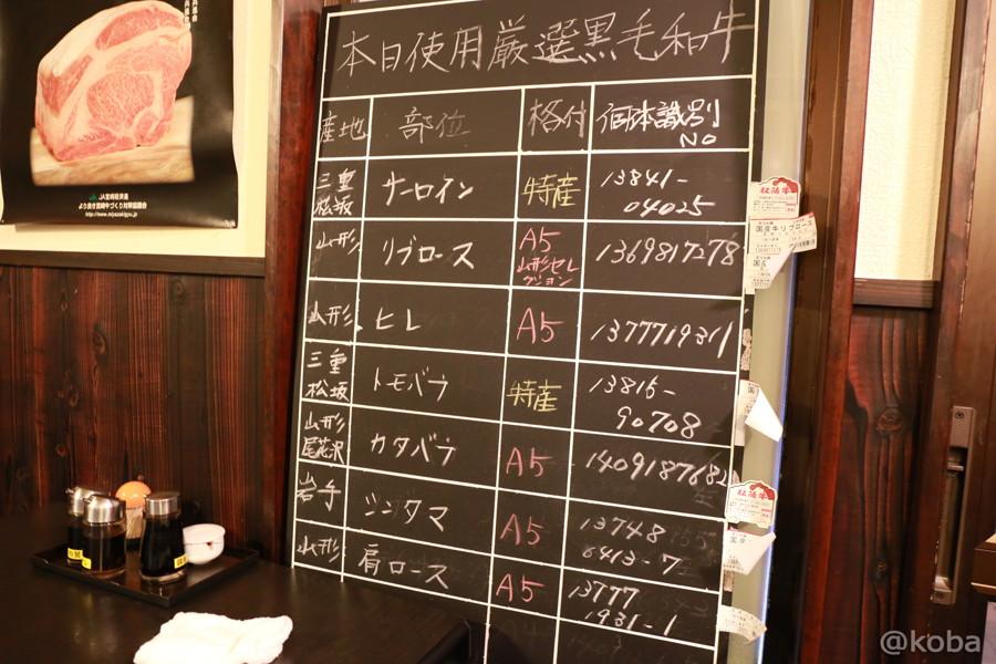 17小岩 焼肉市場 2号店 メニュー