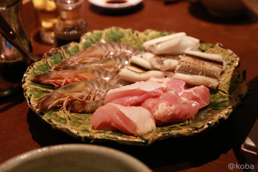 14車海老・焼き穴子・鶏肉