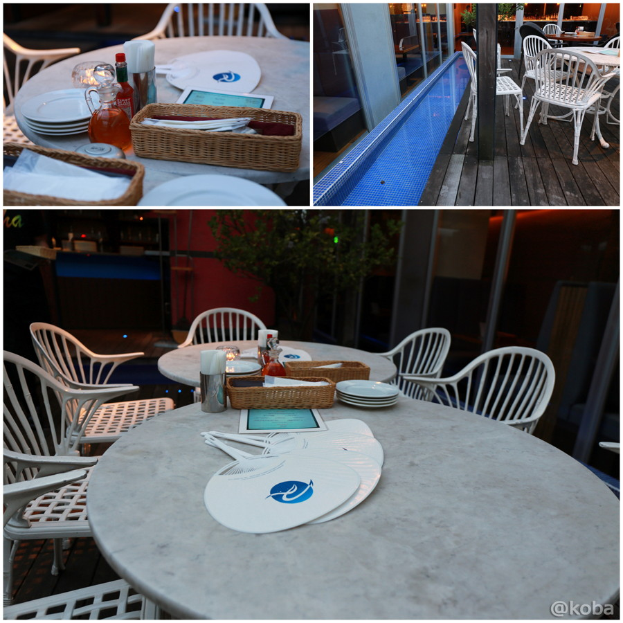 03錦糸町 レストラン レジーナ テラス席 円テーブル