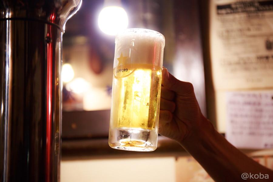09新小岩 ホルモン平田 サッポロ 生ビール 450円