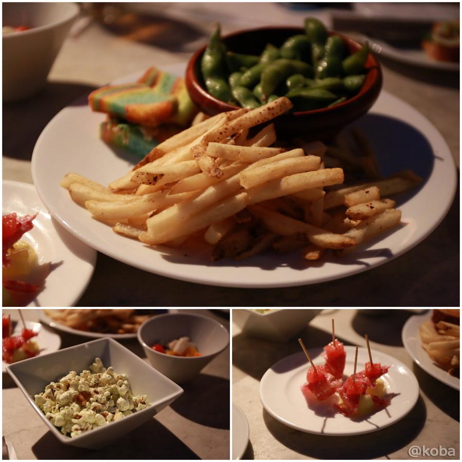 07レインボーブレッド×パクチー&カルアピッグ ガーリック枝豆 フライポテト ポップコーン シーフードセビーチェ