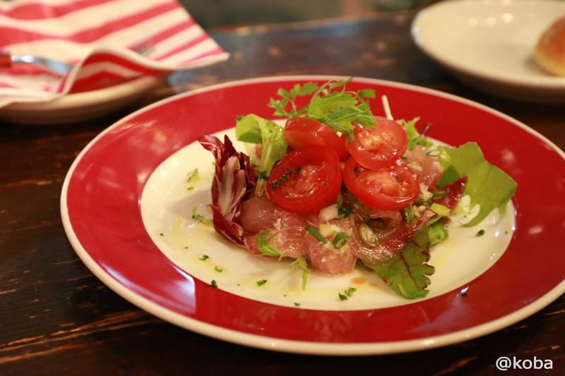 鮮魚のネギカルパッチョ ボラ 立石 ABURI 炙(アブーリ)
