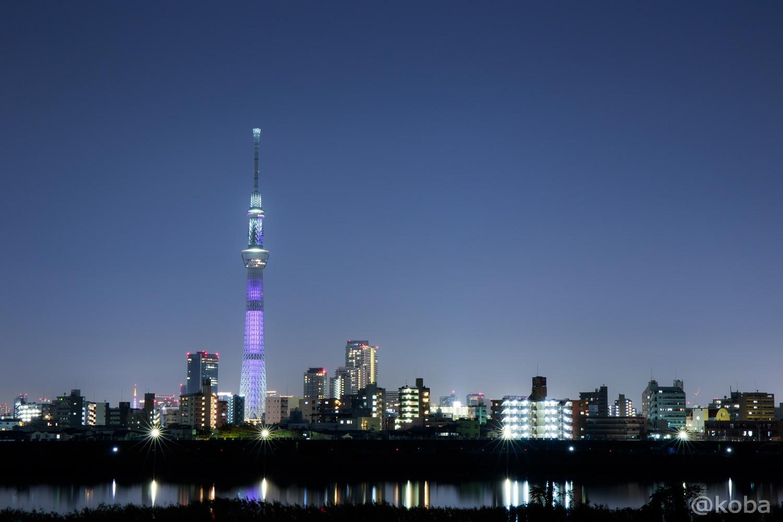 パープライトアップ 東京スカイツリーと東京タワー 四つ木「紫色の特別ライティング」11月│こばフォトブログ