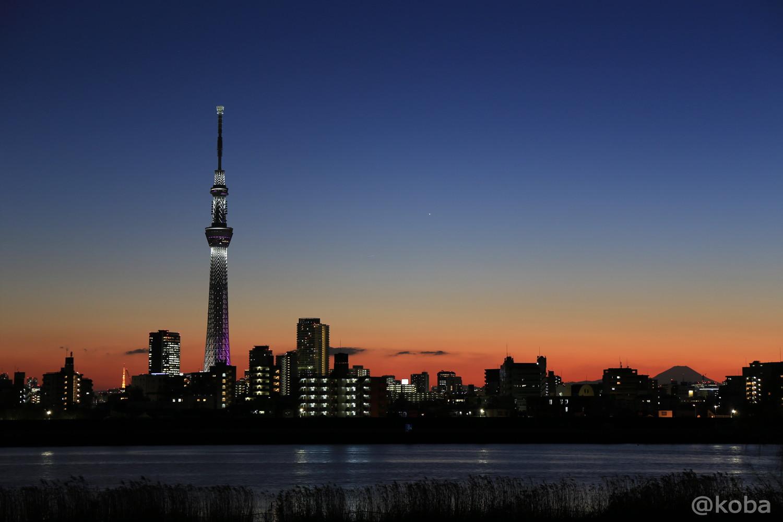スカイツリー 四つ木 夜景 トワイライト 「東京の絶景」こばフォトブログ