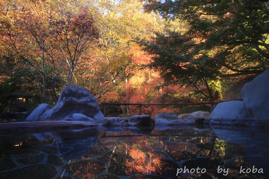 野天風呂岩造り たんげ温泉 美郷館 群馬│こばフォトブログ