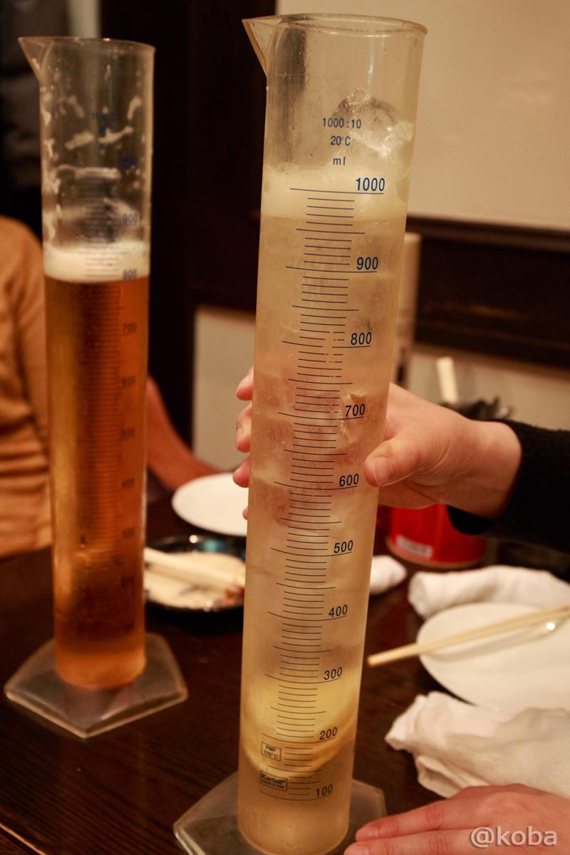 アルコールが薄いハイボール 1ℓ シリンダージョッキ ハイボール東京駅 八重洲 海老バル
