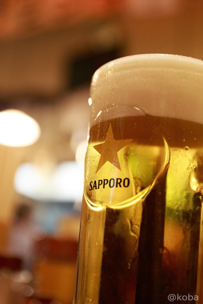 サッポロ 生ビール♪ 450円 新小岩 ホルモン平田