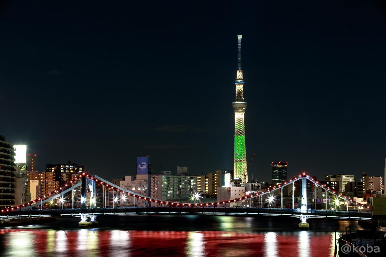 隅田川大橋より 清洲橋とスカイツリー シャンパンツリー│こばフォトブログ