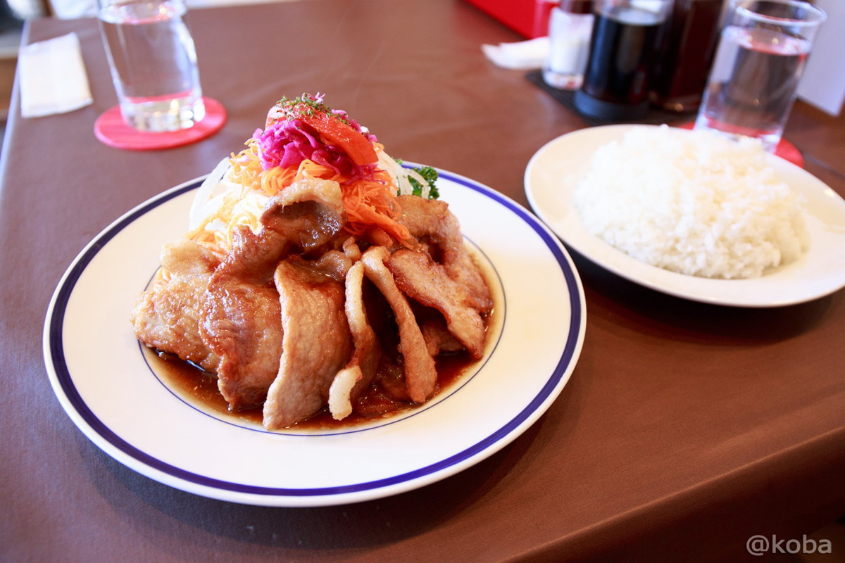 ポークジンジャー 1,000円(+税) (コーンスープ,ライス付き) 立石 洋食工房ヒロ│こばフォトブログ