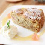 季節のケーキ りんごの紅茶ケーキ 新小岩 cafe マチノ木 │こばフォトブログ