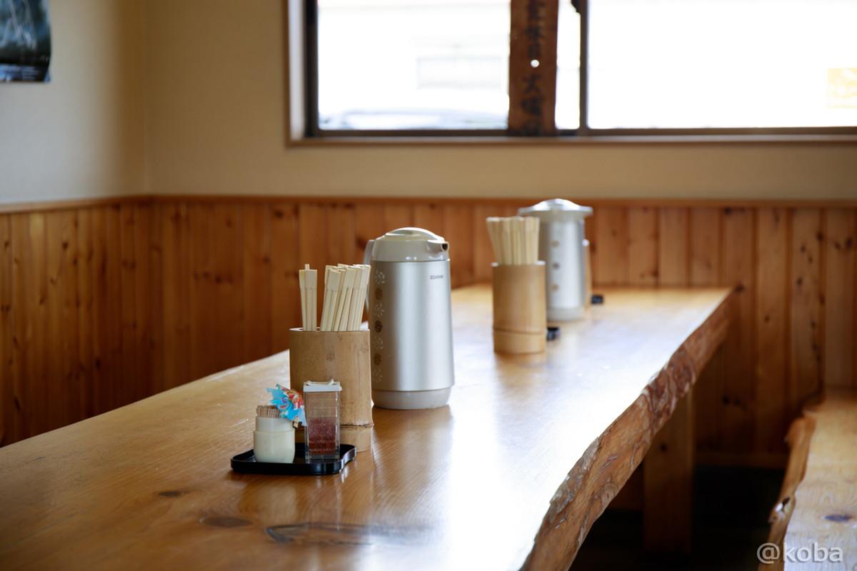 内観 写真 テーブル席 蕎麦家(そばや) 福島県郡山市