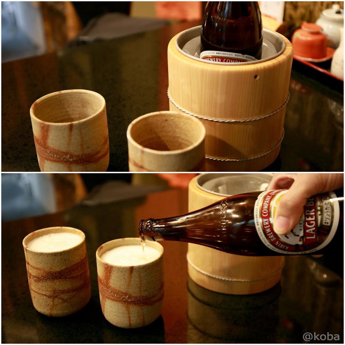 キリンラガービール 瓶ビール_東京 京成小岩駅 中華料理 永楽(えいらく) 江戸川区北小岩