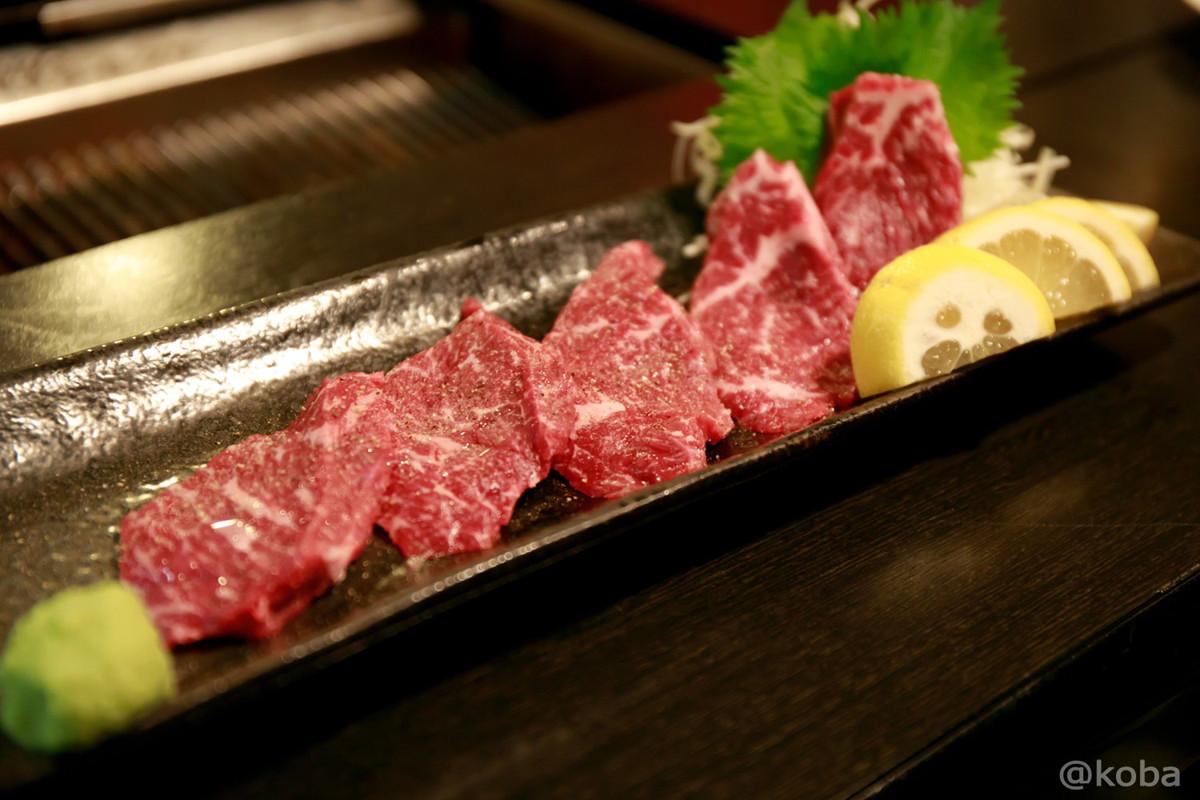 北海道の肉 イチボ 塩(お尻の先の肉)_JR小岩駅 焼肉市場 2号店 森下精肉店