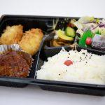 お弁当│カニクリームコロッケとハンバーグセット 780円│新小岩駅│こいわ軒(こいわけん) とんかつ 洋食のお店