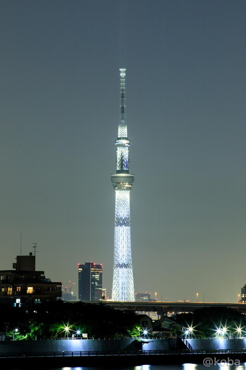 白色のライティング│東京スカイツリー│葛飾区で撮影したスカイツリーです。│葛飾区│2017年5月21日│こばフォトブログ