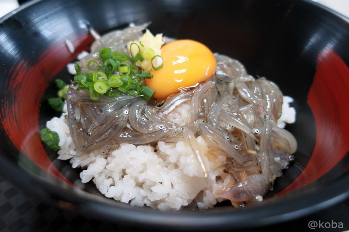 赤富士丼 750円 生シラスの漬け! なかなか大きいシラス!│静岡 田子の浦港(たごのうらこう) 漁協食堂│海鮮料理 漁港 ブログ