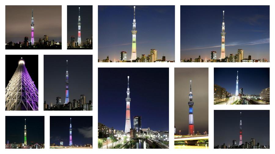 「色とりどり!」 東京スカイツリーのライティングを 色別に紹介していきます!