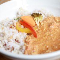九州鶏のキーマカレー 11種類のスパイスを入れた辛くないカレー  ご飯は雑穀米│cafe マチノ木(まちのき)│カフェランチ│東京│新小岩ブログ