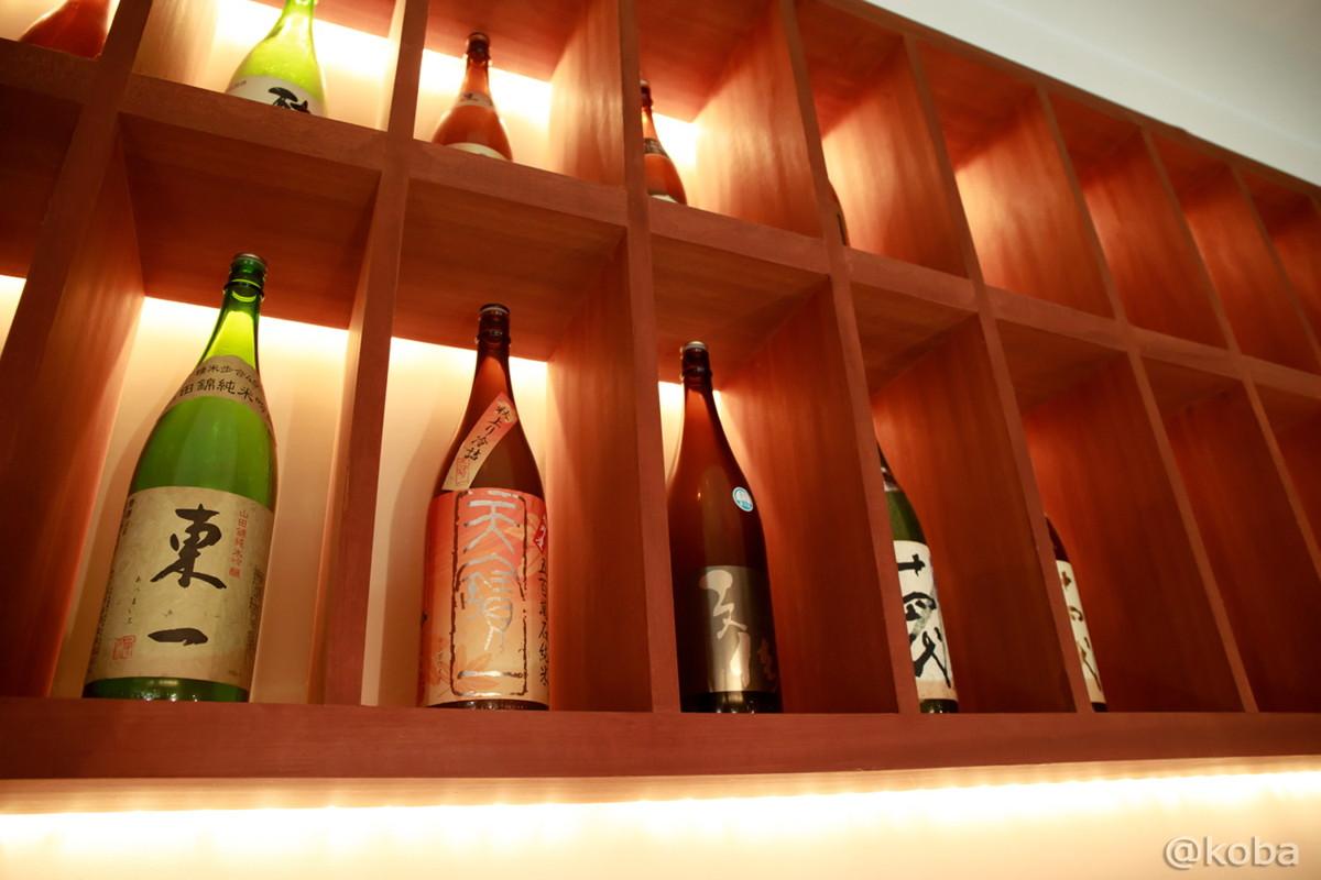 光が美しいお酒のディスプレイ│福島(ふくしま)│和食ランチ│魚料理│東京オシャレなお店│新小岩ブログ