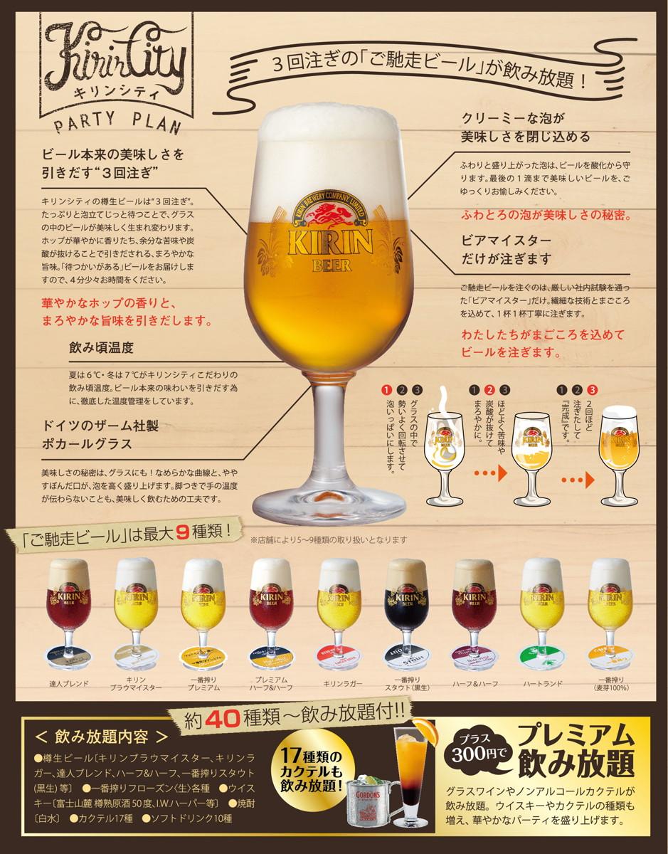 02最大9種類の「ご馳走ビール」
