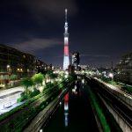 東京スカイツリー「空の日」 柳島歩道橋より