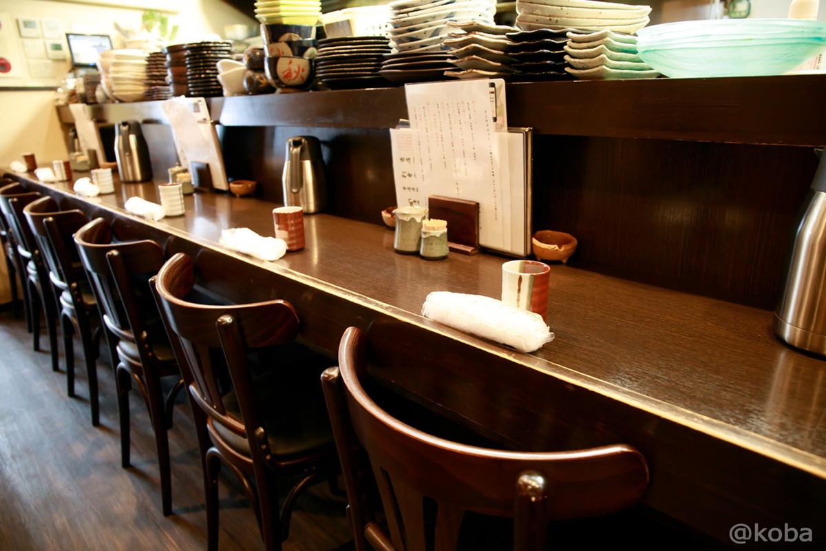 内観 カウンター席の写真│わか月(わかつき)│和食ランチ│鮮魚・酒肴・地酒 日本酒│東京│小岩ブログ