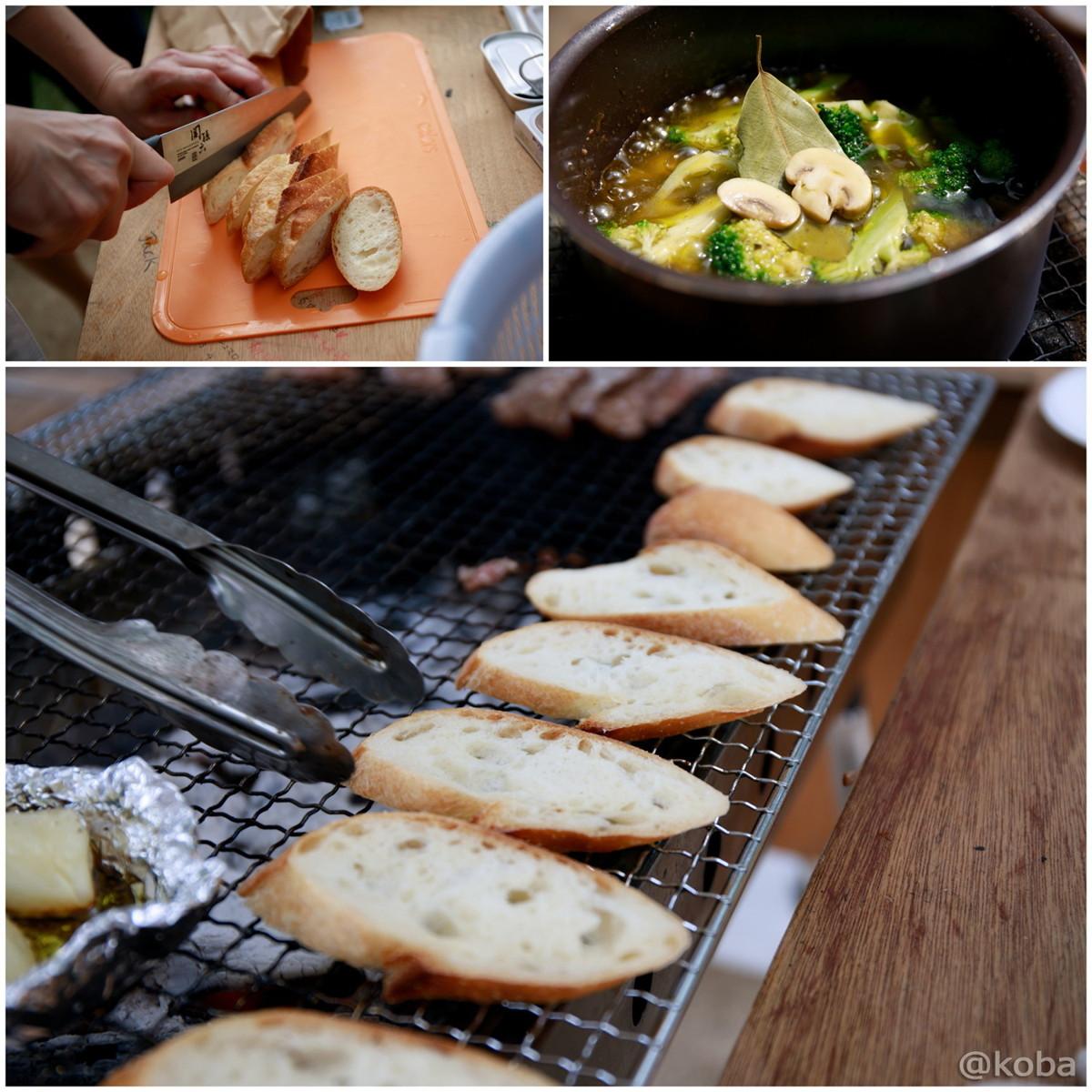 アヒージョとフランスパン│木場公園バーベキュー広場│東京都江東区平野│BBQブログ