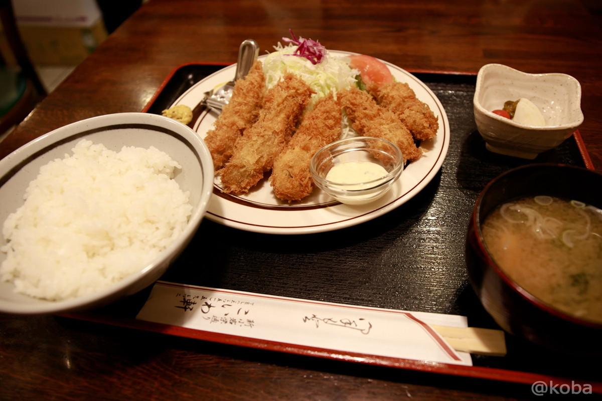牡蠣フライ定食│こいわ軒(こいわけん)│和食ランチ│東京葛飾区│新小岩駅│とんかつ 洋食のお店