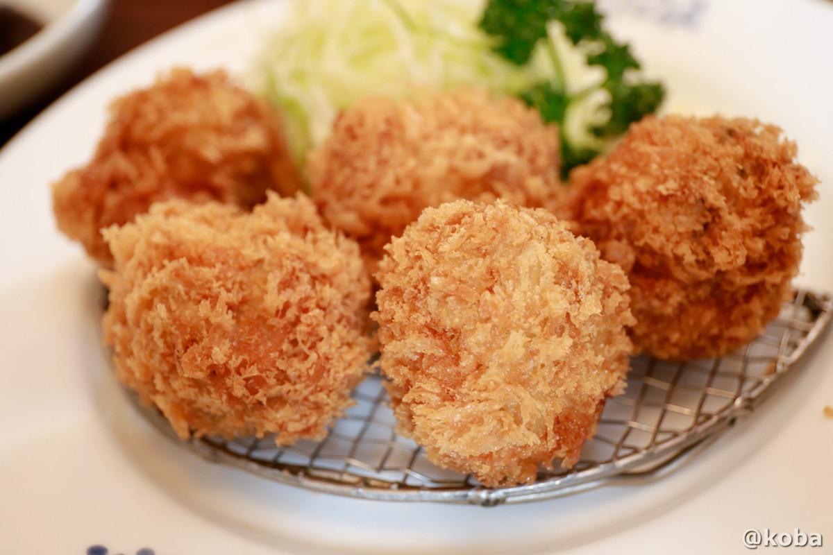 まーるい、コロッとした牡蠣フライ!カキフライ│レストランうちだ│ランチ│東京葛飾区│新小岩│こばフォトブログ