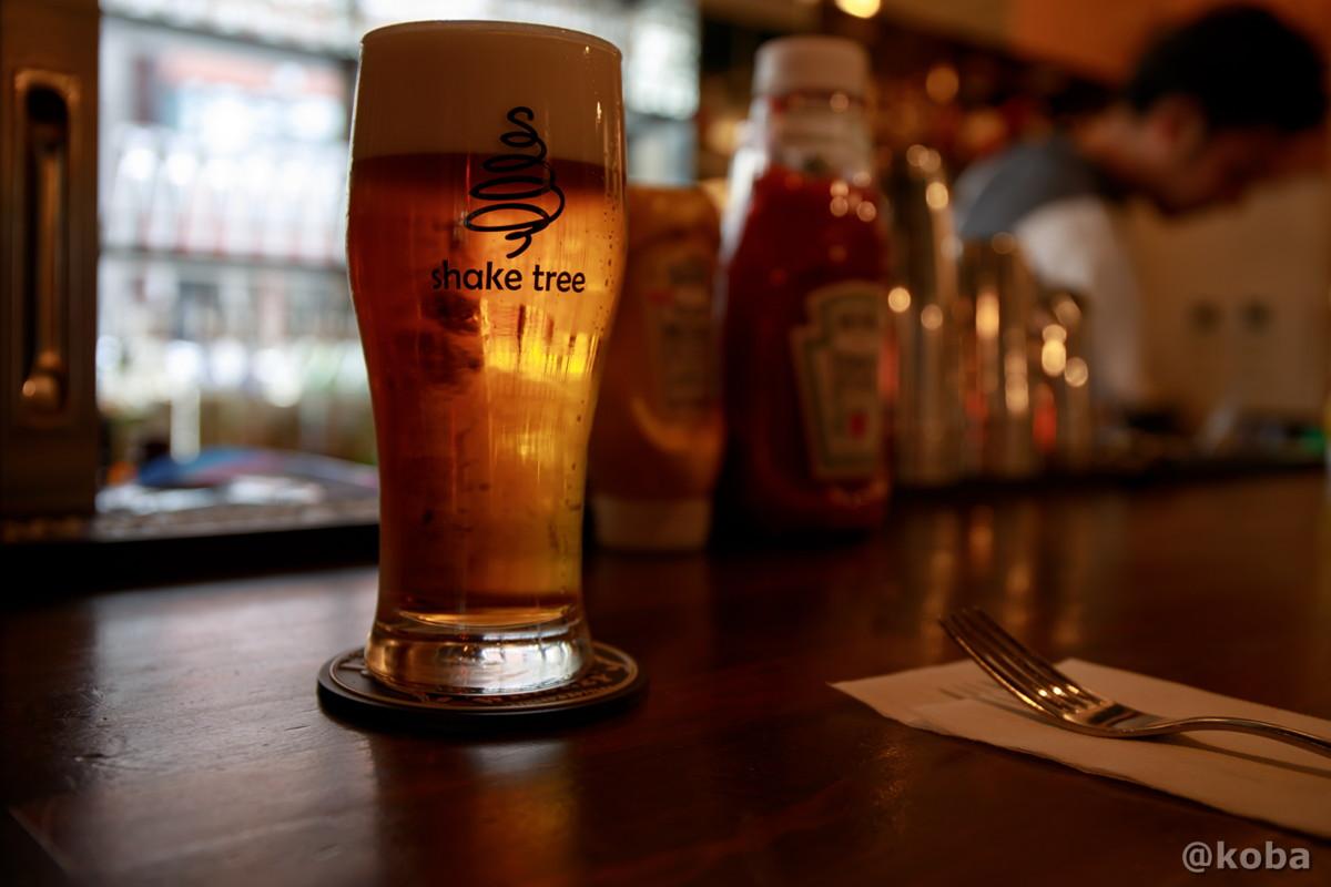 ブルックリンラガー 1,200円 (ニューヨークのビール)│シェイクツリー(shake tree))│ハンバーガー屋│ランチ│東京都墨田区│錦糸町│こばフォトブログ@koba