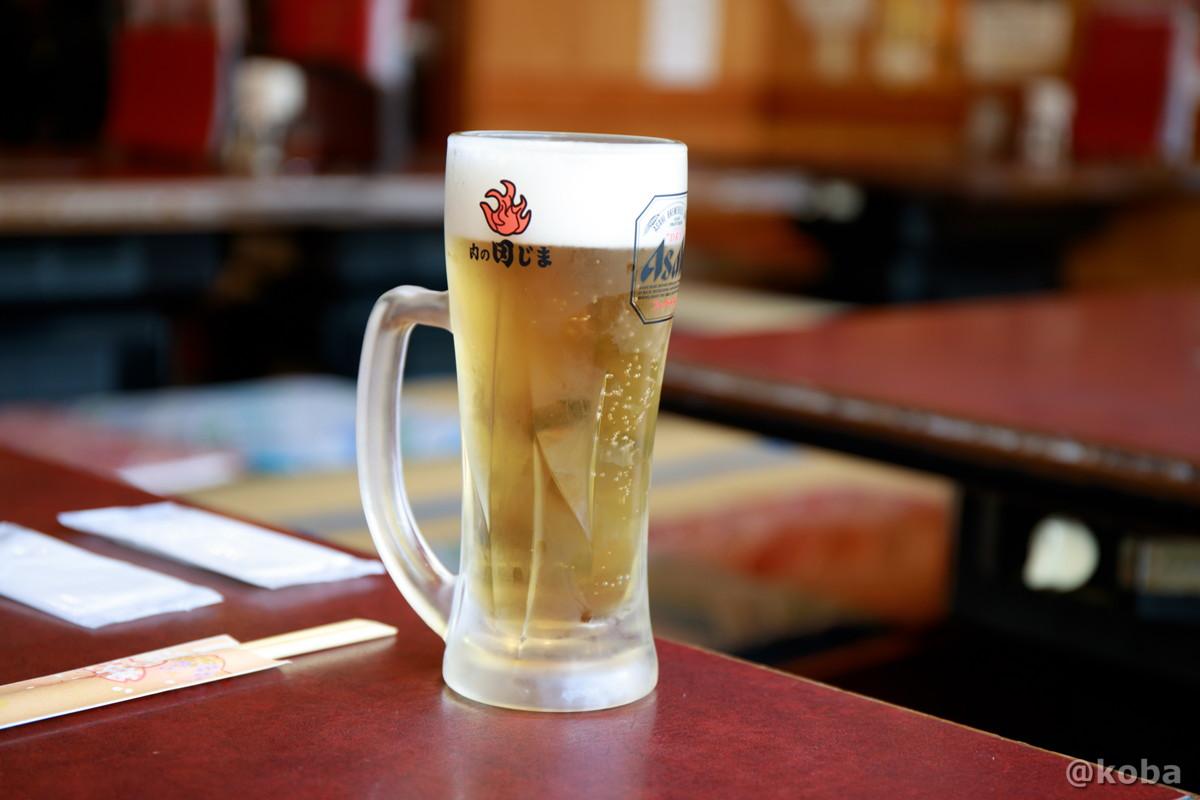 水曜、木曜はビール半額 スーパードライ 590円→295円│肉の田じま(にくのたじま)│こばフォトブログ@koba
