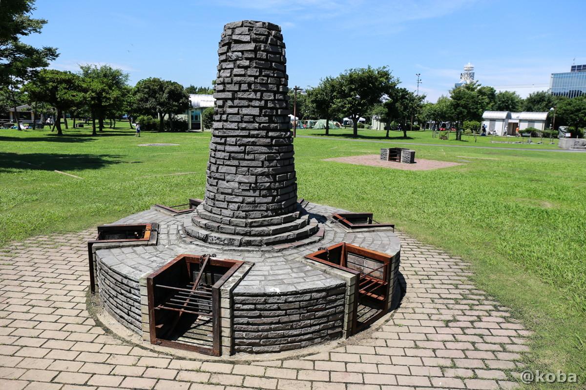 共用の炉(かまど)キャンプ場 │若洲公園│江東区